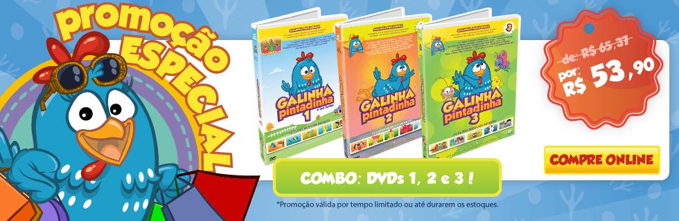 Combo: DVDs 1, 2 e 3!