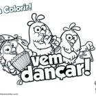 Desenho para colorir - Vem dançar!