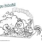Desenho para colorir - Piquenique