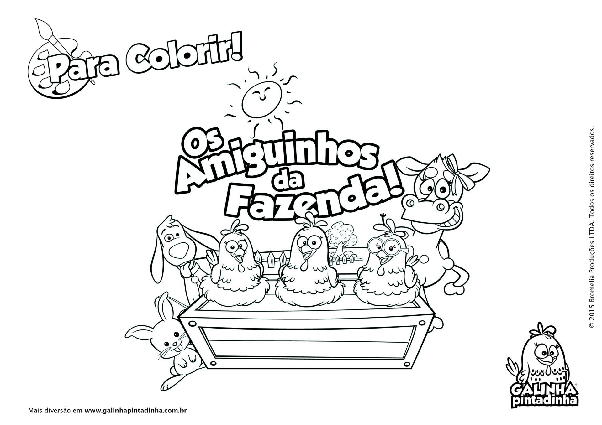 Desenhos Para Colorir Site Oficial Da Galinha Pintadinha