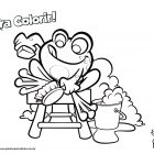 Desenho para colorir - Sapo