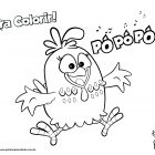 Desenho para colorir - Galinha Pintadinha - Pópópó!
