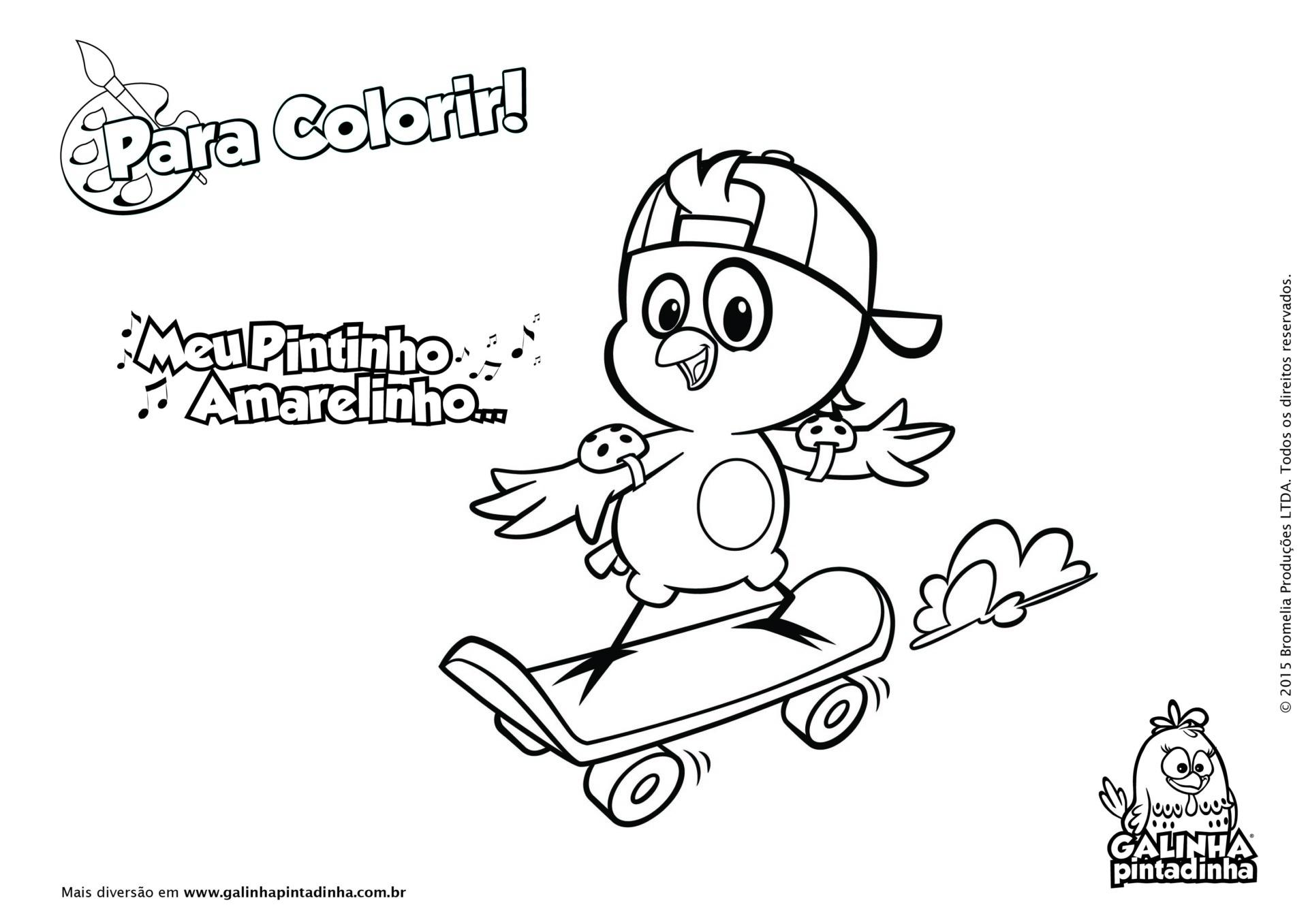 Desenho De Skate Para Imprimir: Site Oficial Da Galinha Pintadinha