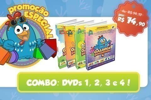 Combo DVDs 1, 2, 3 e 4 com desconto especial!
